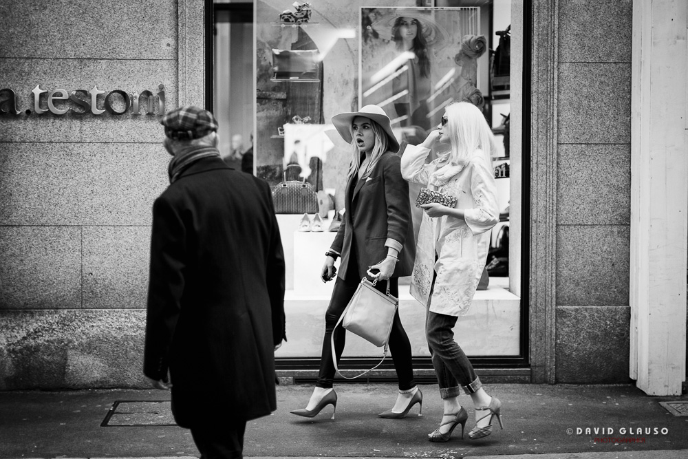 Fashion in Via Montenapoleone Milano, ph David Glauso