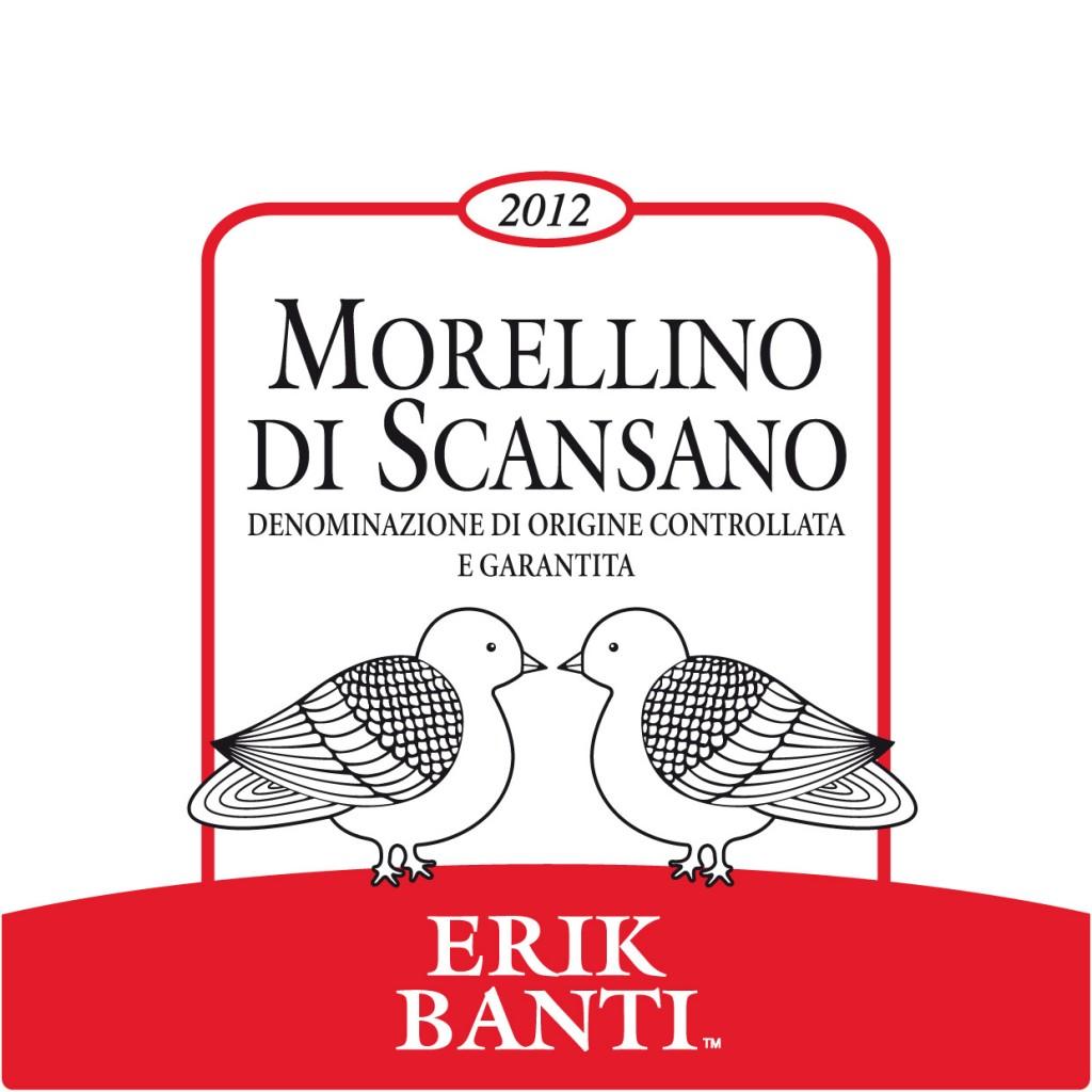 Etichetta di Morellino di Scansano di Erik Banti