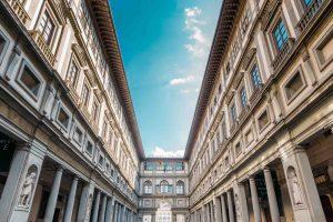 Esterno della Galleria degli Uffizi a Firenze