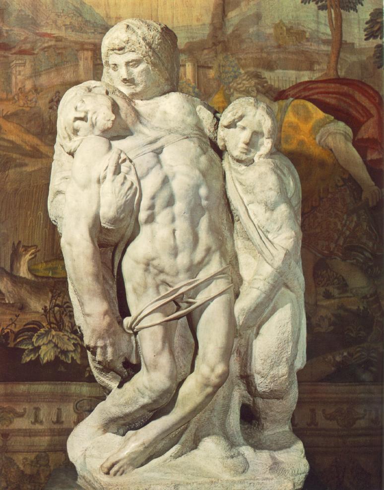 Alla Galleria dell'Accademia di Firenze si può ammirare la Pietà Palestrina di Michelangelo