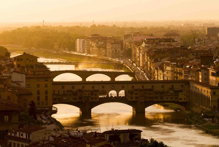 Vista del Ponte Vecchio dal Piazzale Michelangelo Firenze