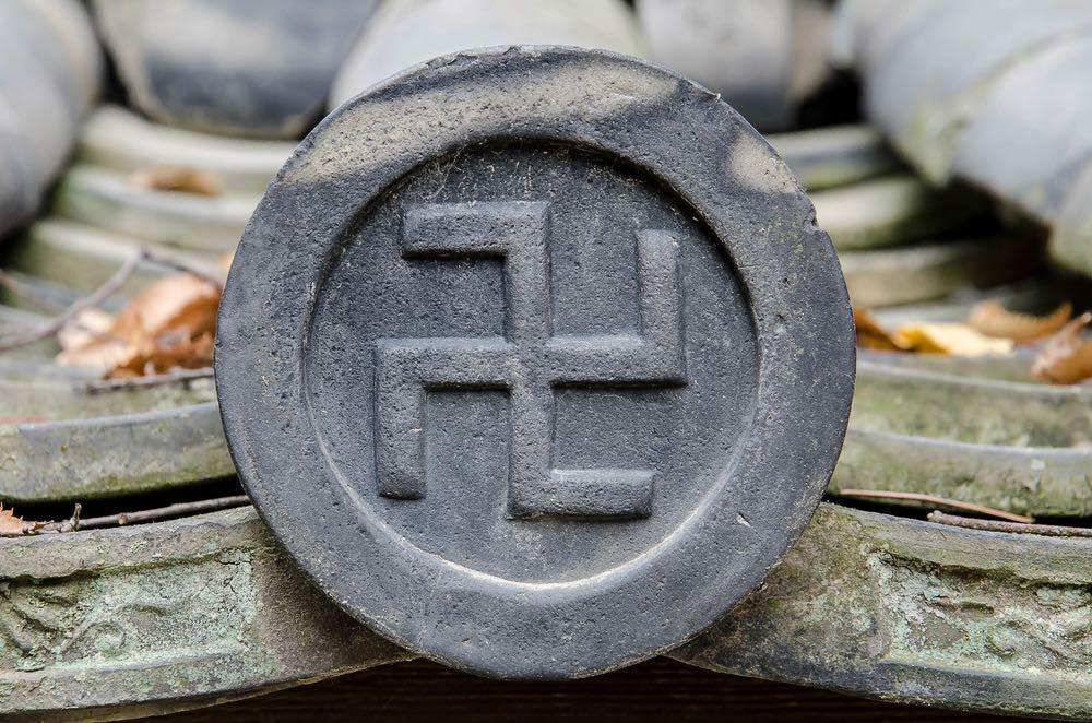 La svastica in un tempio giapponese
