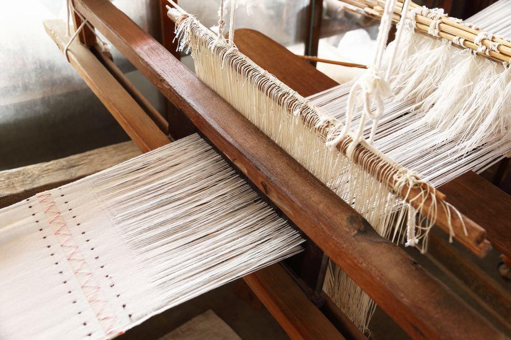 Antico telaio a mano per la lavorazione dei tessuti a Firenze
