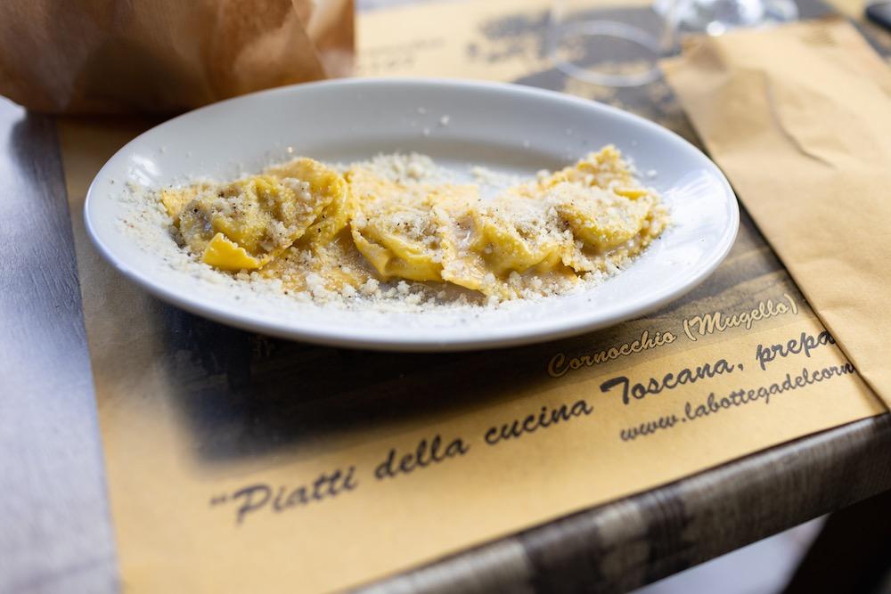 Tortelli di patate della Bottega del Cornocchio, ristorante in Mufello