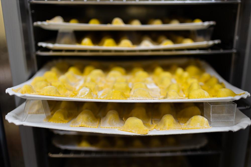 Vassoio di tortelli mugellani della Bottega del Cornocchio