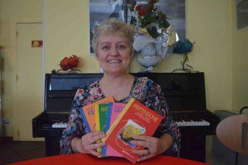 Carla Marchetti con i suoi libri