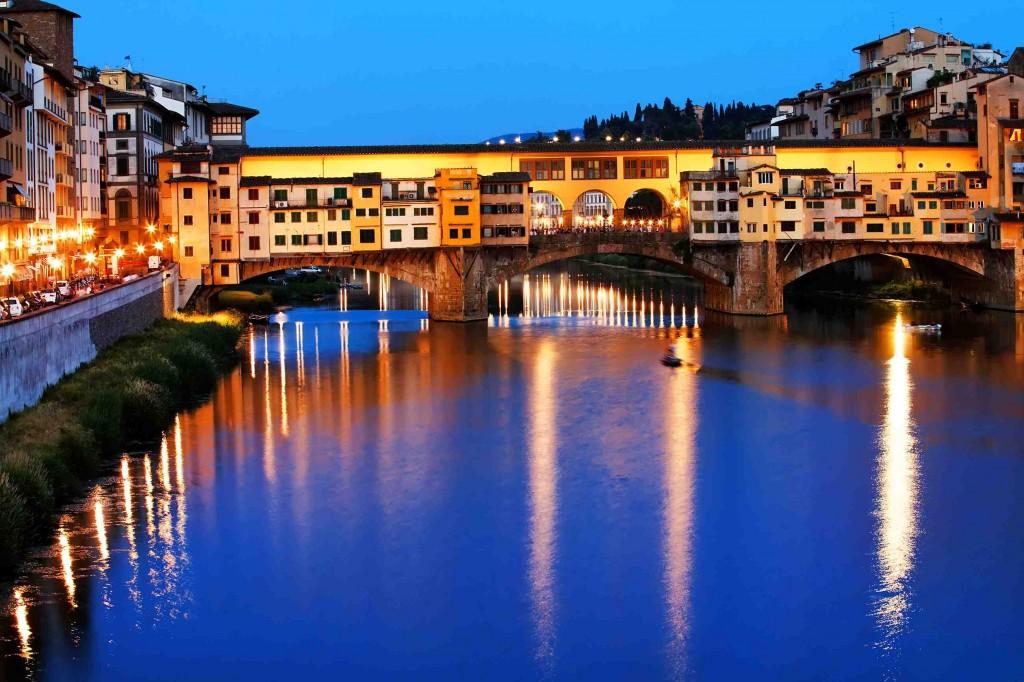 Pitti Immagine Uomo 2014: il 16 giugno nuova illuminazione dI Ponte Vecchio inaugurata da Andra Bocelli