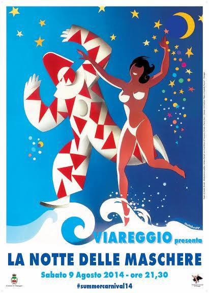 La Notte delle Maschere si terrà a Viareggio il 9 agosto 2014