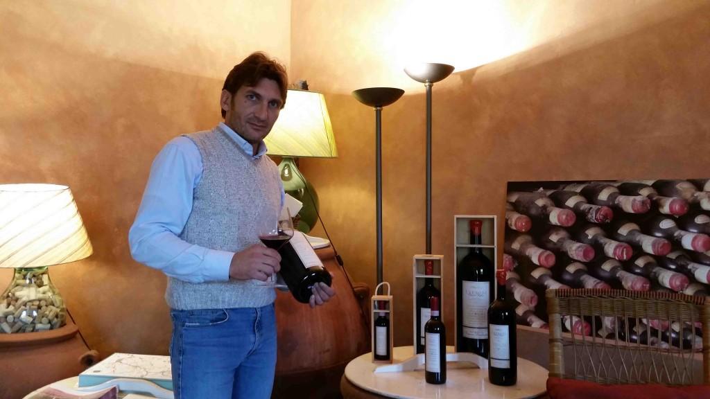 Luca Innocenti, wine marketing manager della Fattoria I Veroni: il Chianti Rufina, vino d'annata, più servito nei ristoranti fiorentini