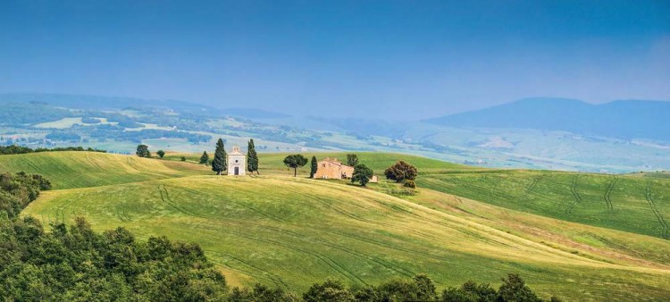 Toscana al Top Cappella della Madonna di Vitaleta in Val d'Orcia SI