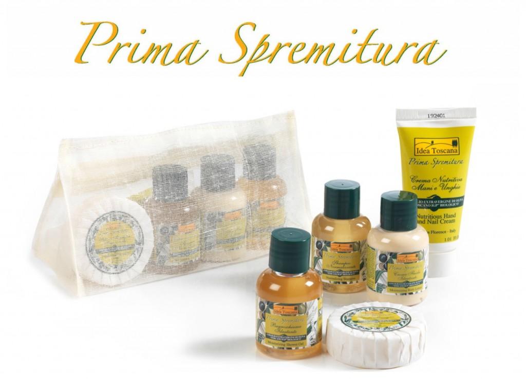 Prima Spremitura prodotti igiene e bellezza Made in Tuscany all' Olio Extravergine di Oliva Toscano IGP