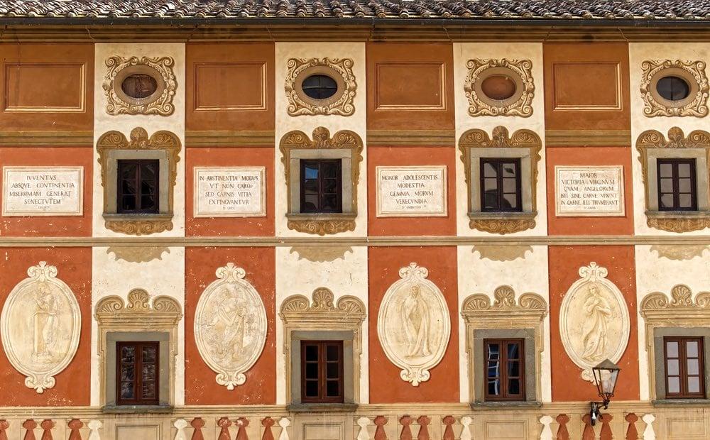 Il Palazzo del Seminario Vescovile nel borgo toscano di San Miniato in provincia di Pisa