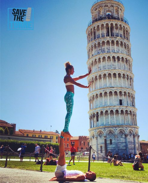 Save The Torre Pisa - yoga