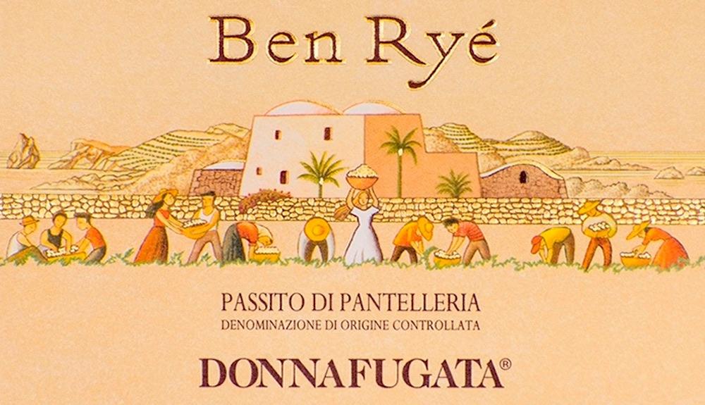 L'etichetta del Ben Ryé il Passito di Pantelleria di Donnafugata