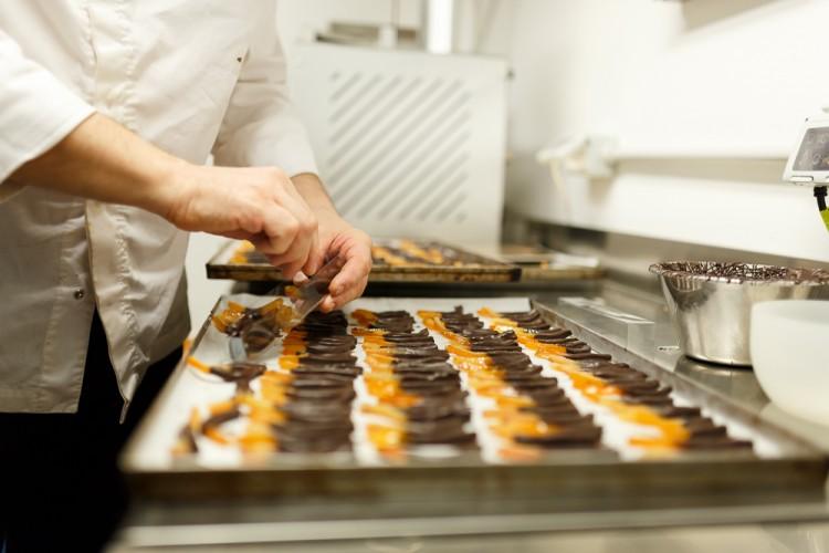 Scorzette di arancio e cioccolato alla pasticceria Rainer di Firenze