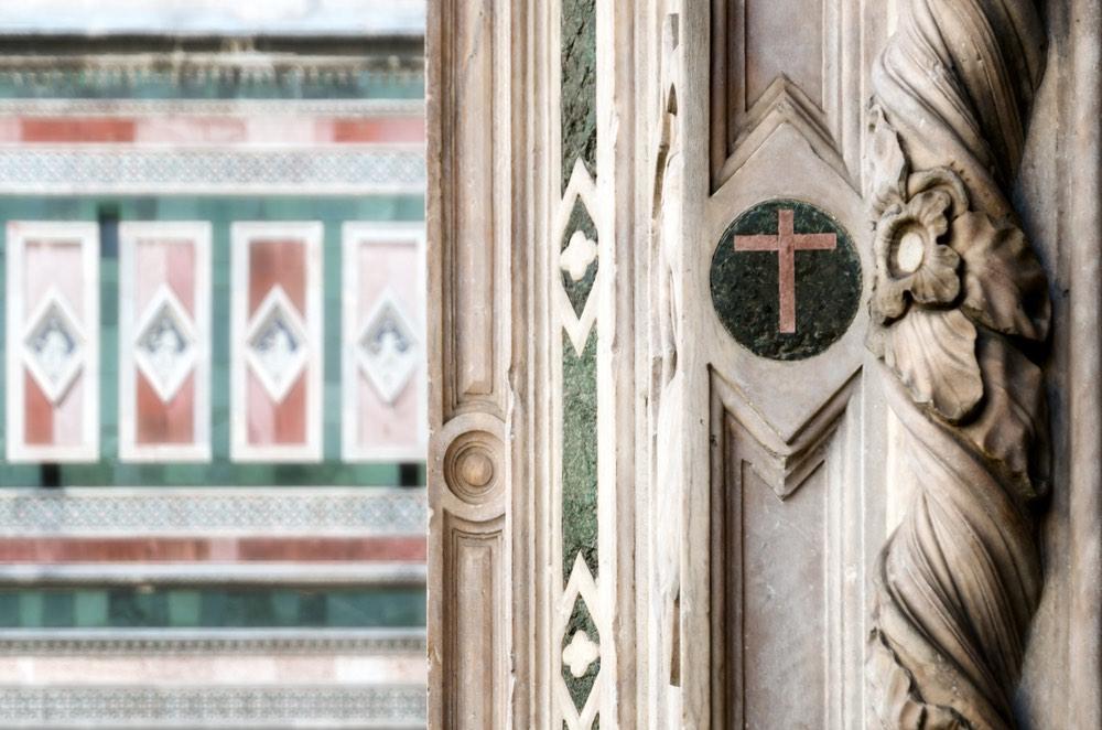 Dettaglio del Campanile di Giotto di Piazza Duomo a Firenze