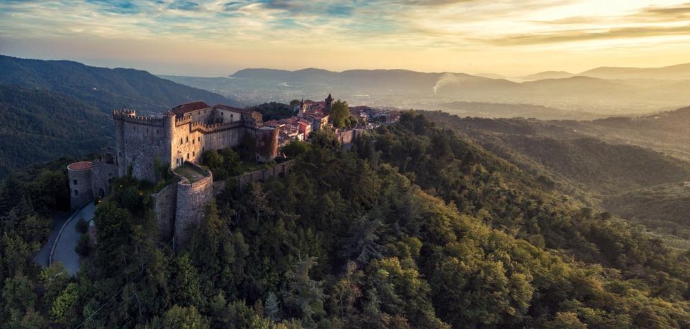 Il Castello dei Malaspina a Fosdinovo vicino Massa-Carrara