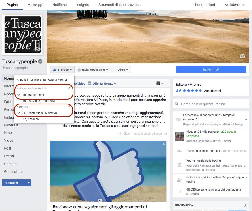 TuscanyPeople, il web magazine sulla Toscana che racconta le storie di questa meravigliosa terra e dei suoi abitanti, è presente su Facebook