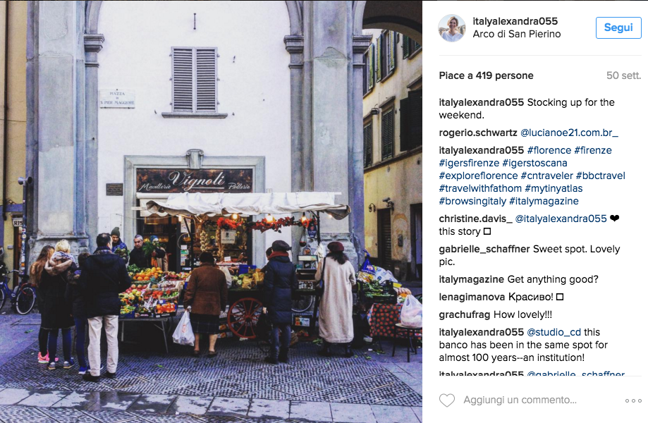 I 10 account Instagram da seguire per vivere Firenze as a local scoprendo tradizioni, eventi e best places del capoluogo toscano.