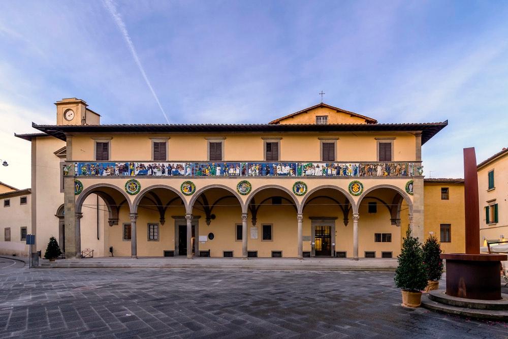L'Ospedale del Ceppo è una delle più belle opere d'arte di Pistoia