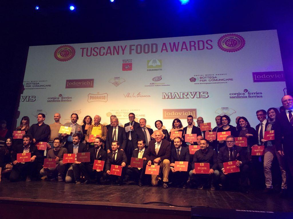 Le premiazioni dei Tuscany Food Awards, gli Oscar dell'enogastronomia toscana si sono svolte l'11 marzo al Teatro Puccini. Ecco i vincitori