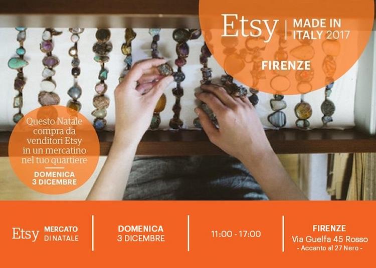 Etsy, il web marketplace della creatività e dell'homemade si trasforma in mercato di Natale: a Firenze il 3 dicembre in via Guelfa 45/r