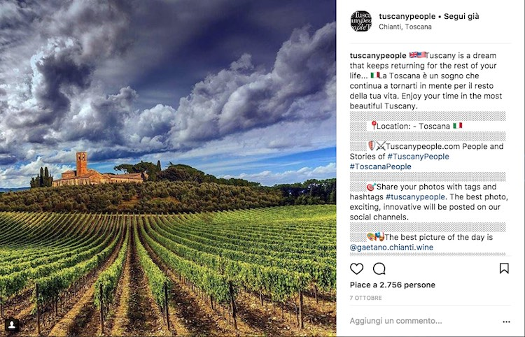 TuscanyPeople on Instagram ha 50.000 followers e oltre 130.000 foto pubblicate con hashtag #tuscanypeople: l'essenza della Toscana in un solo profilo, Real Tuscan Being.