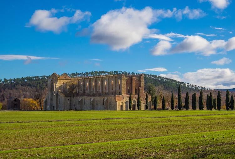 Il borgo toscano di Monticiano si trova in Val di Merse, vicino all'Abbazia di San Galgano