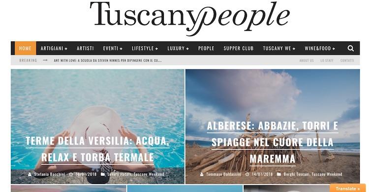 Tommaso Baldassini e Valentini Alisi, founder e co-founder della rivista sulla Toscana TuscanyPeople, si raccontano in un'intervista su Beesness
