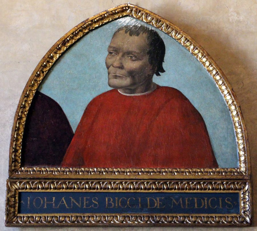 La storia de i Medici inizia nel Duecento con Giambuono dei Medici, ma il primo personaggio di rilievo storico che incontriamo è Giovanni dei Medici, fondatore del Banco dei Medici