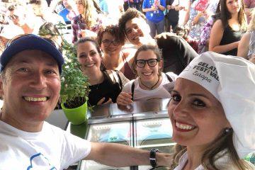 """Ersilia Caboni è la vincitrice del Gelato Festival 2018 con il gusto """"Menta Selvatica""""."""