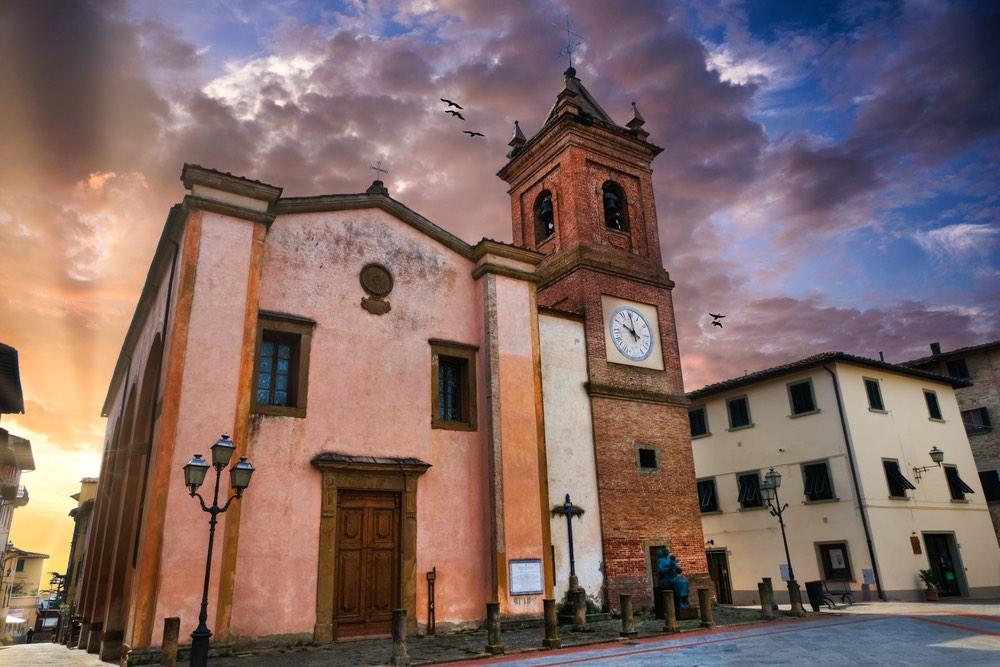 La chiesa di San Regolo a Montaione, borgo toscano vicino alla via Francigena