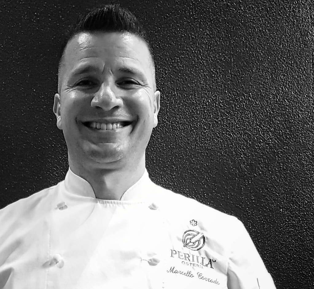 Lo chef stellato Marcello Corrado dell'Osteria Perillà a Rocca d'Orcia, Siena, si racconta in un'intervista esclusiva ai lettori di TuscanyPeople.