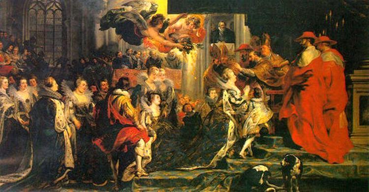 Maria dei Medici sposò Enrico IV e divenne regina di Francia nel 1610. Fu madre di Re Luigi XIII che la tradirà in combutta con Richelieu