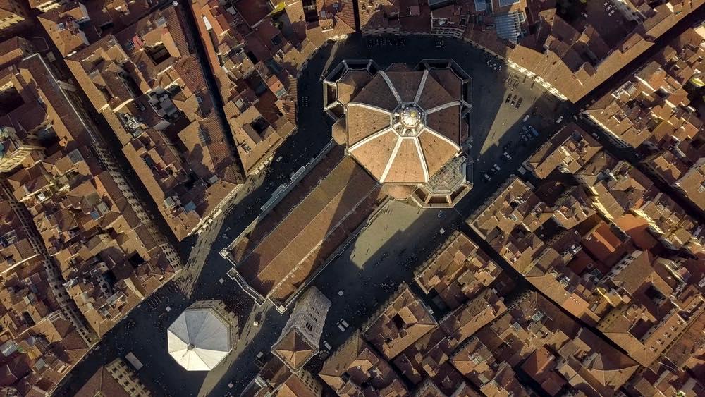 Firenze: Piazza Duomo vista dall'alto