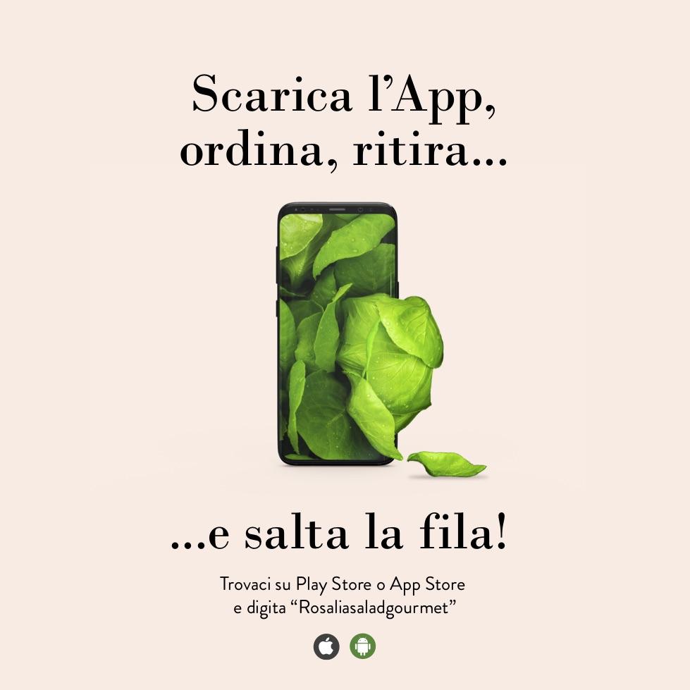 App di Rosalia Salad Gourmet, heahty food bistrot a Firenze