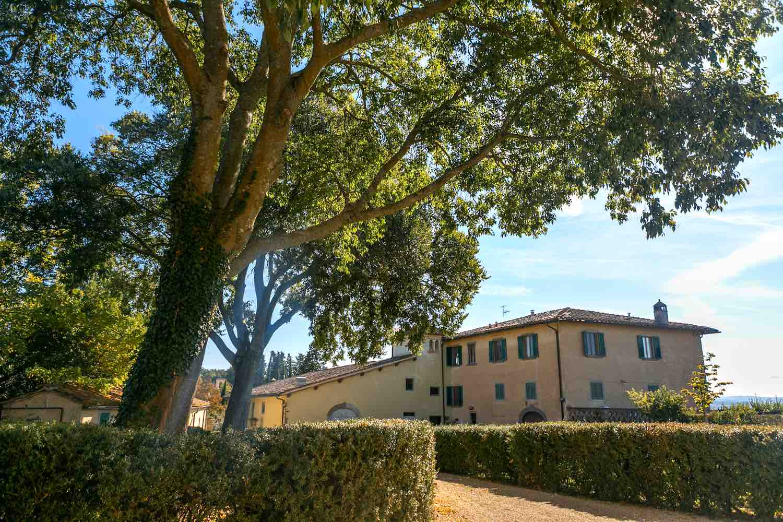 Villa Montepaldi a San Casciano in Val di Pesa, è una una villa medicea di proprietà dell' Università di Firenze e produce vino e olio di alta qualità.