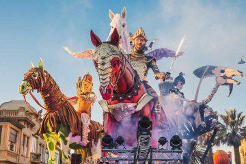 Carri allegorici e sfilata del Carnevale di Viareggio