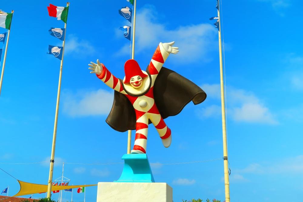 Burlamacco è la maschera ufficiale del Carnevale di Viareggio
