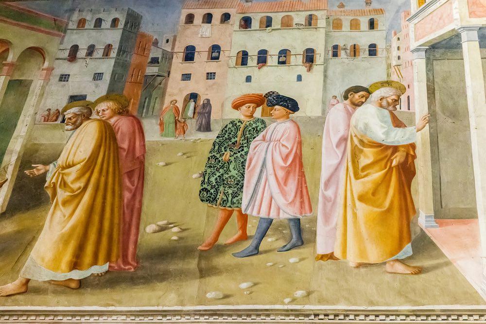La Cappella Brancacci a Firenze dipinta da Masaccio e Masolino è uno dei più begli esempi del Rinascimento fiorentino.