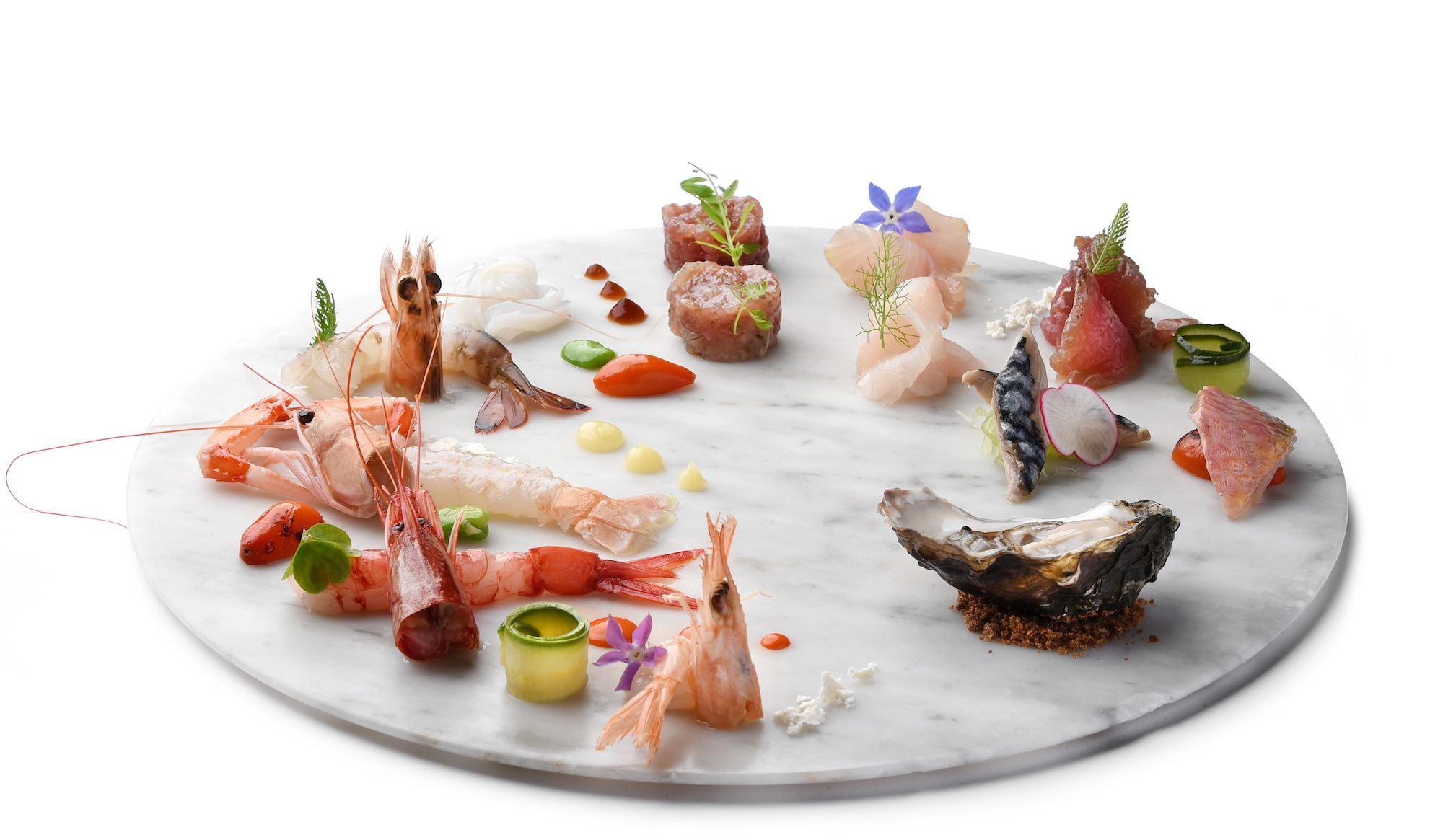 Cruditè, piatto dell'Executive Chef Andrea Mattei dei ristoranti della Famiglia Vaiani