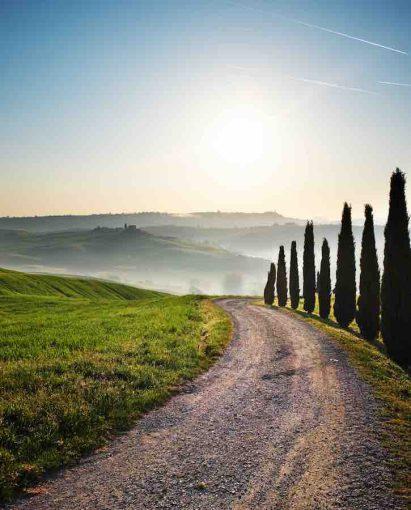 Strada nella campagna Toscana