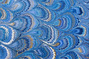 Foglio di carta marmorizzata fiorentina