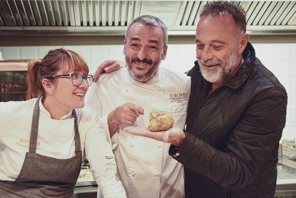 Chef Monika Filipinska e Chef Andrea Campani al Borro Tuscan Bistro di Firenze.