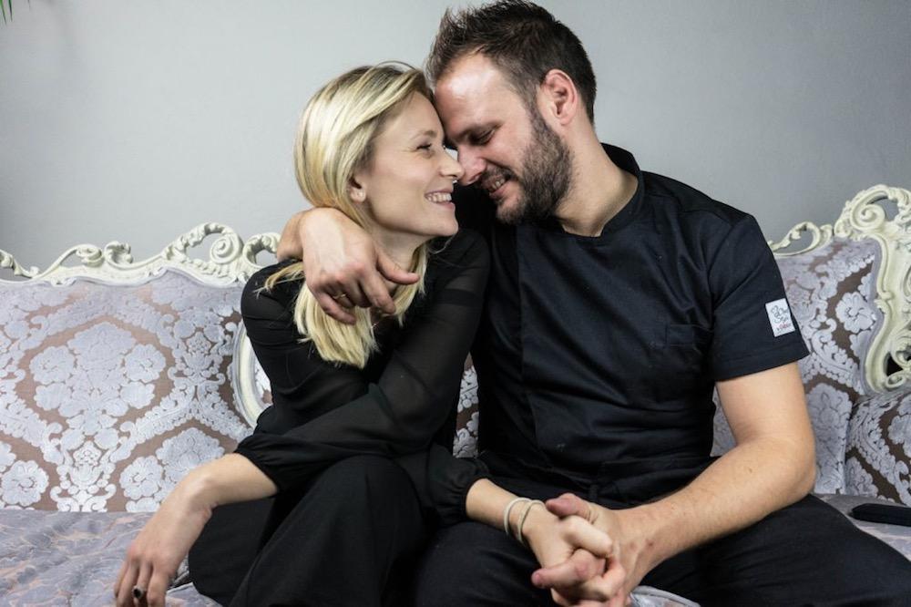 Lo chef Edoardo Tilli e sua moglie Claudia Karafilaj del Podere Belvedere