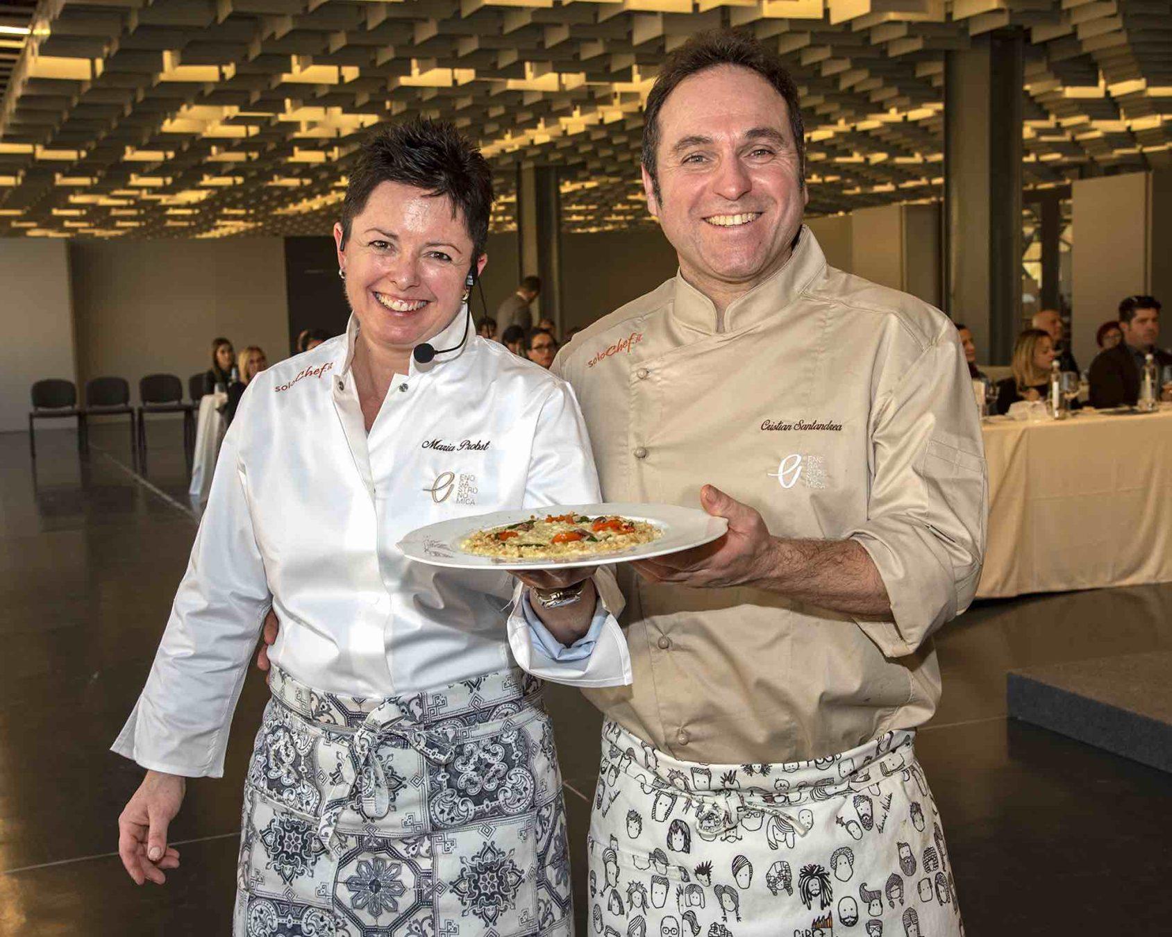 Chef Maria Probst e Chef Cristian Santandrea a Enogastronomica 2019