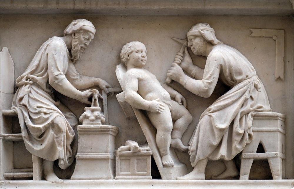Bassorilievo sulla facciata della Chiesa di Orsanmichele a Firenze