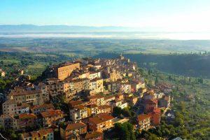 Panorama di Chianciano Terme, uno dei borghi toscani più conosciuti per le sue acque termali