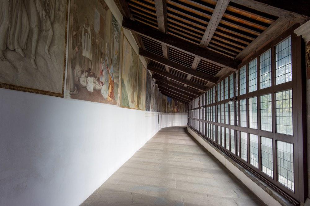 Il Corridoi delle Stimmate nel Santuario Francescano de La Verna
