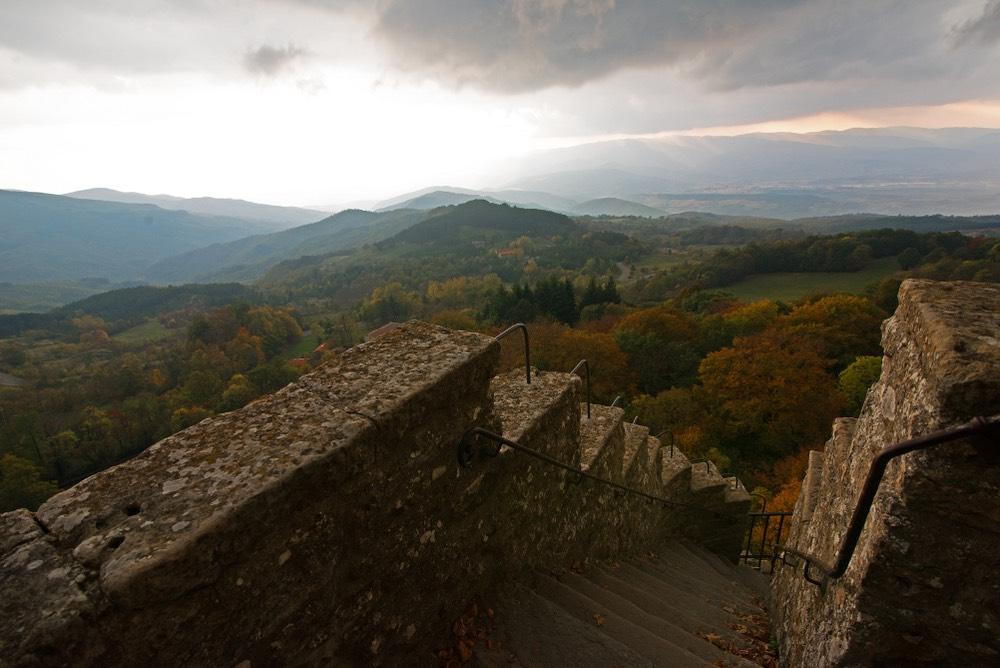 Il panorama dal Monte Penna nel Santuario de La Verna